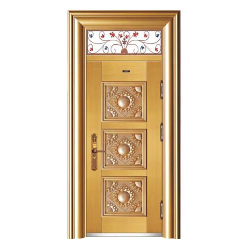 HB-1010金元寶 (鑄鋁拚接仿真銅5#)單開門帶氣窗