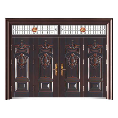 HB-1005圖開福壽 (仿真銅6#)四開門帶氣窗