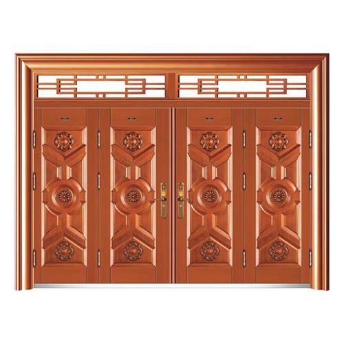 HB-1039福臨門 (仿紅銅)四開門帶氣窗