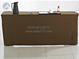 驼色毛呢会议桌套 -QXMN02