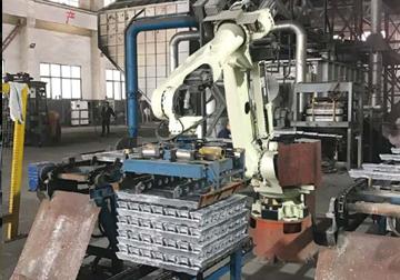 机器人自动叠锭
