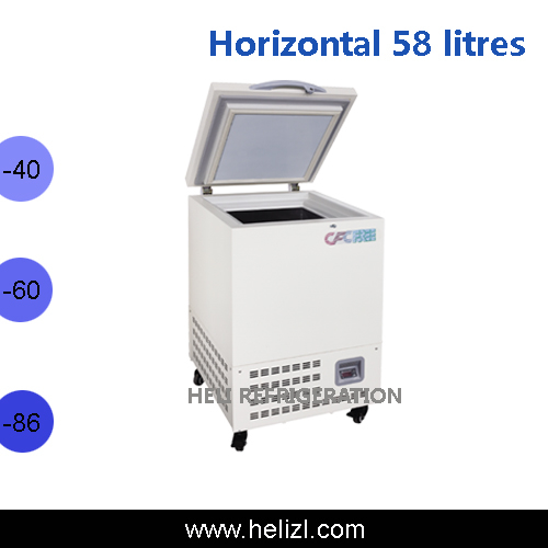 58l horizontal ult freezer open