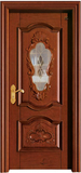 实木复合油漆套装门-HT-Y-13带玻璃