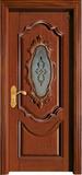 实木复合油漆套装门-HT-Y-12带玻璃
