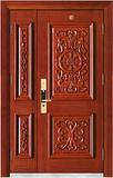实木复合油漆套装门-HT-MA-62直纹花梨