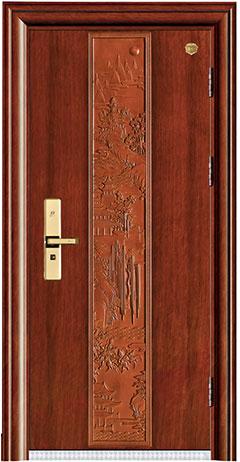 实木复合油漆套装门-HT-MA-64直纹花梨