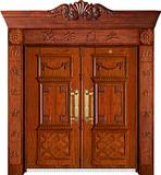 实木复合油漆套装门-HT-MA-65黄花梨