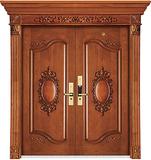 实木复合油漆套装门-HT-MA-61橡木仿古2号