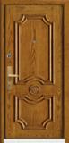 精品防盗门系列-GLL-S-1601AH 橡木仿古1