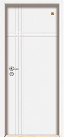 格洛里木门系列-GLL-S-1655B 纯白