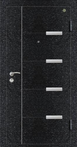 精品防盗门系列-GLL-GM-05 黑色龟裂纹