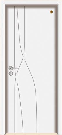 格洛里木门系列-GLL-S-1650B 纯白
