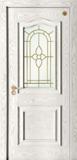 格洛里木门系列 -GLL-S-1628A玻璃 橡木仿古白