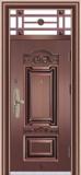 精品防盗门系列 -HT-7006 9CM 四防 铁艺气窗门