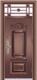 精品防盗门系列-HT-7006 9CM 四防 铁艺气窗门