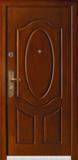 精品防盗门系列-GLL-S-1631C 红胡桃