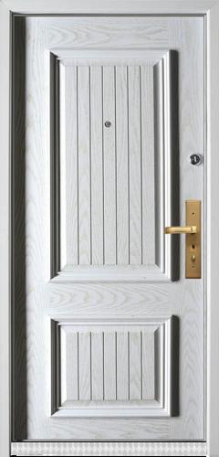 精品防盗门系列-GLL-S-1627A 橡木仿古白