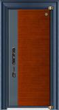 德式装甲门-GLL-GM-1805 科技柚木/蓝灰