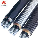 AC90 铝合金自锁铠装电缆3X95+2X50平方 -AC90--3X95+2X50平方