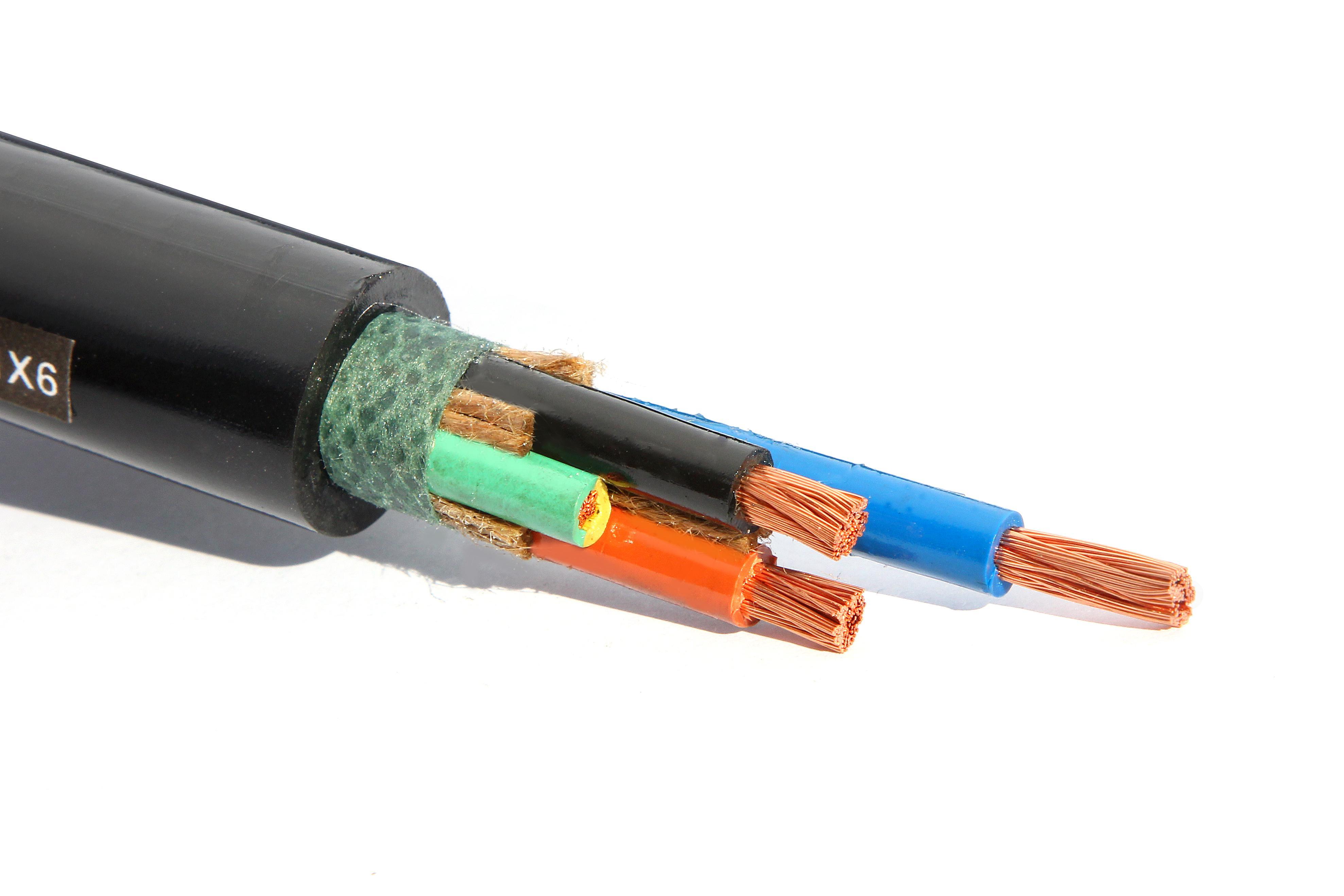 橡套电缆 四芯重型橡套耐油软电缆 YCW3x10 1x6平方 中策电缆厂家直销