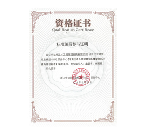 标准编写资格证书