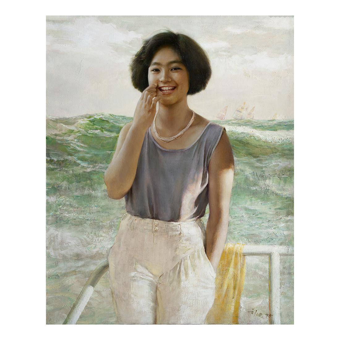 海姑娘 1995年作  100x81cm 布面油画