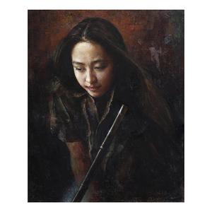 洞箫 1998年布面油画
