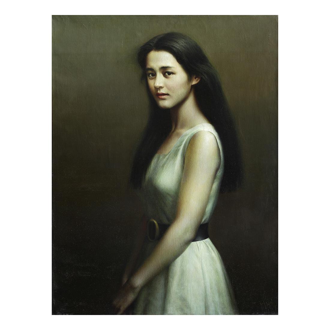 少女  1991年 92x73cm 布面油画