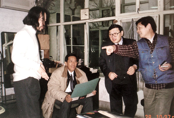 香港太平绅士姚美良先生与永芳集团成员来画室洽谈合作