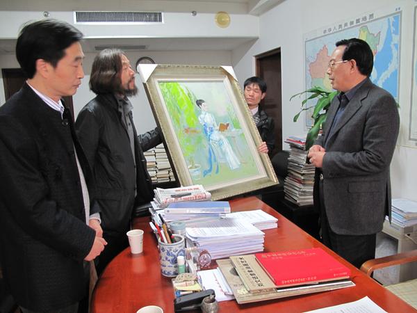 与杭州市委副书记叶明谈合作项目