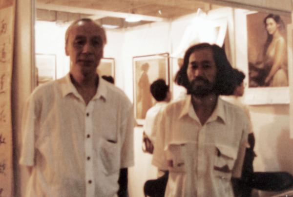 与中国油画学会主任詹建俊先生