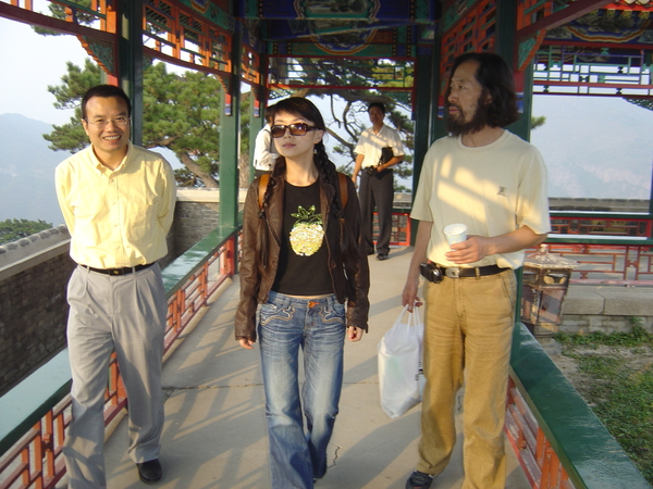 与美学家彭锋及韩祺游西山