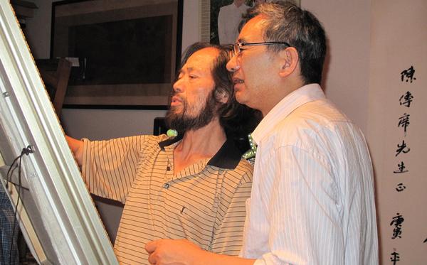 拜访美术评论家陈传席教授