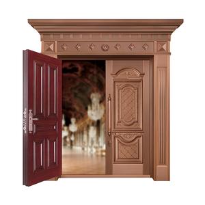 香榭丽舍铜艺对开门