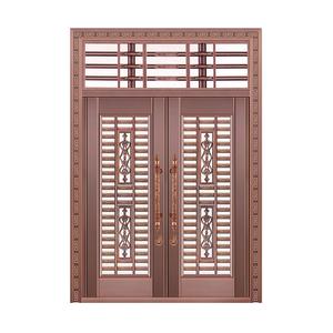 富丽堂皇铜艺对开门(带气窗)