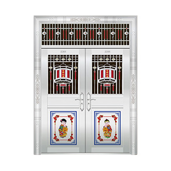 豪华不锈钢门-JT-8930(六类花)