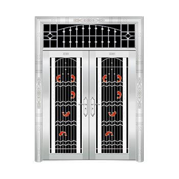 豪华不锈钢门-JT-8933(四类花)