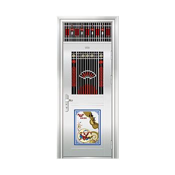 豪华不锈钢门-JT-9001(精品花)