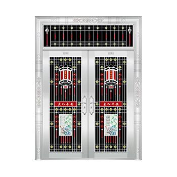 豪华不锈钢门-JT-8936(六类花)