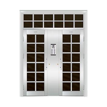 豪华不锈钢门-JT-8968(楼宇门)