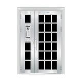 豪华不锈钢门 -JT-8962(楼宇门)