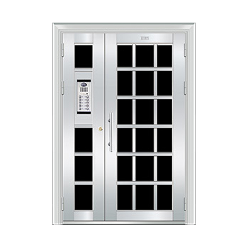 豪华不锈钢门-JT-8962(楼宇门)