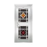 豪华不锈钢门 -JT-8995(六类花)