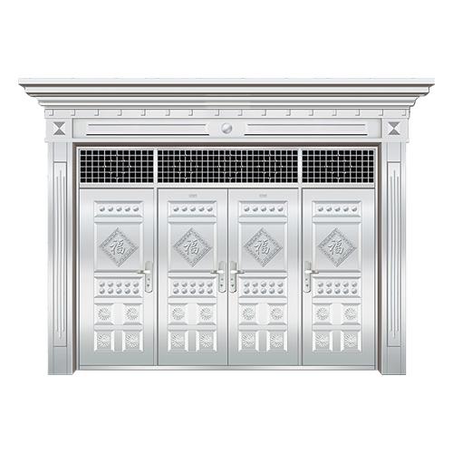 豪华不锈钢门-JT-8982(整板门)