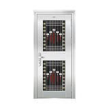 豪华不锈钢门 -JT-8993(六类花)