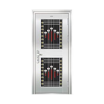 豪华不锈钢门-JT-8993(六类花)