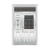 豪华不锈钢门 -JT-8963(楼宇门)