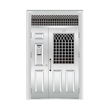 豪华不锈钢门-JT-8963(楼宇门)