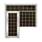 豪华不锈钢门 -JT-8987(连窗门)