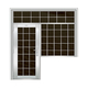 豪华不锈钢门-JT-8987(连窗门)